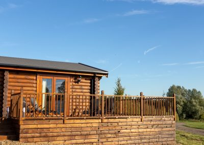 Decking Area Foxton Locks Lodges